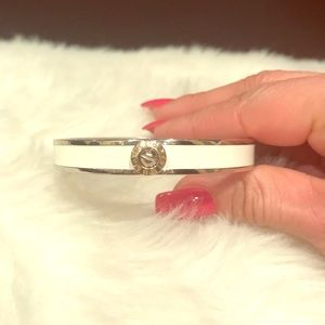 Henri Bendel hinged white bangle